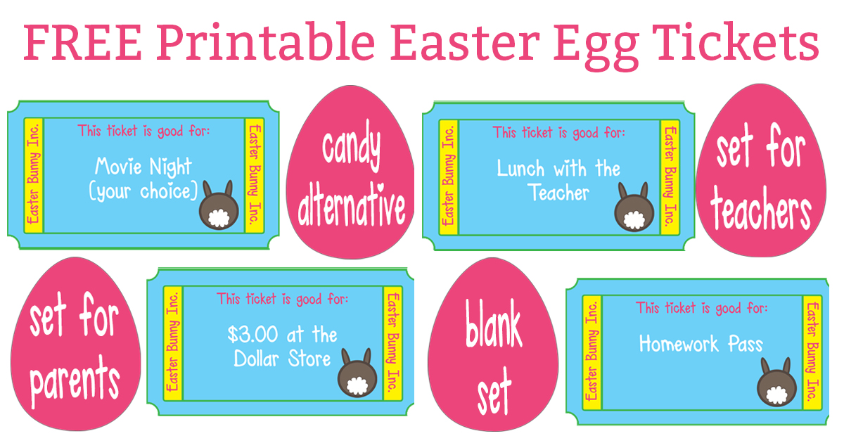 graphic about Tickets Printable named Free of charge Easter Egg Tickets - Preference toward Sweet Easter Egg