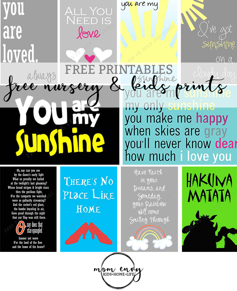 free nursery prints kids prints mom envy