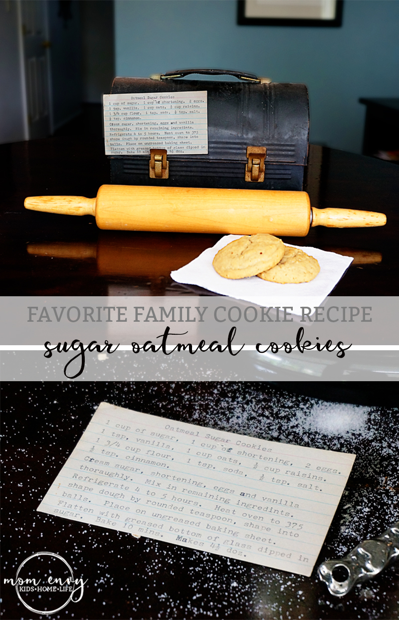 Sugar Oatmeal Cookie Recipe - This old fashioned and simple recipe is sure to become your new family favorite. It's my Grandma's old standby recipe that has always been a hit at holidays and family gatherings. It makes a great Christmas cookie recipe.