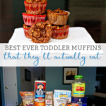 Toddler Muffin Recipe - This is an amazing toddler muffin recipe that your children will actually eat. You can sneak in some vegetables and fruit and still get your kids to eat them. They're not just for toddlers. They're a great healthy lunch box snack.