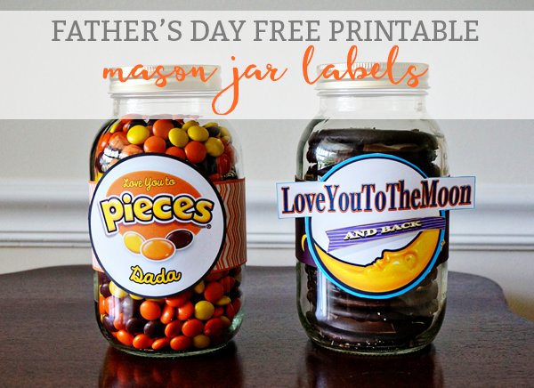 photograph about Free Printable Mason Jar Labels titled Reeses and Moon Pie Totally free Printable Jar Labels