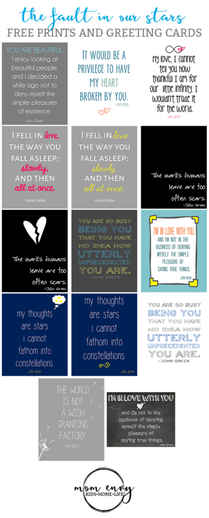 fault in our stars prints and cards free printables mom envy