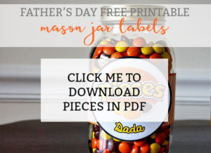 Reese's and Moon Pie Free Printable Jar Labels