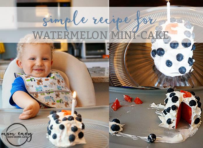 watermelon mini-cake recipe mom envy