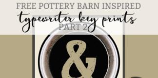 typerwriter key prints pottery barn inspired mom envy
