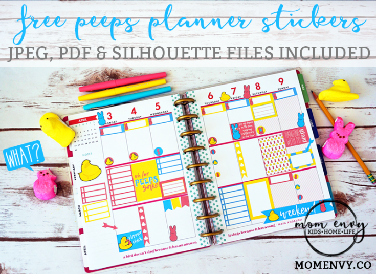 Free Peeps Planner Stickers (Free printable stickers for the Happy Planner)