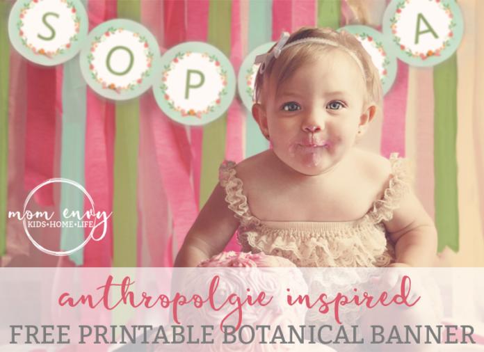 free printable anthropologie inspired banner mom envy