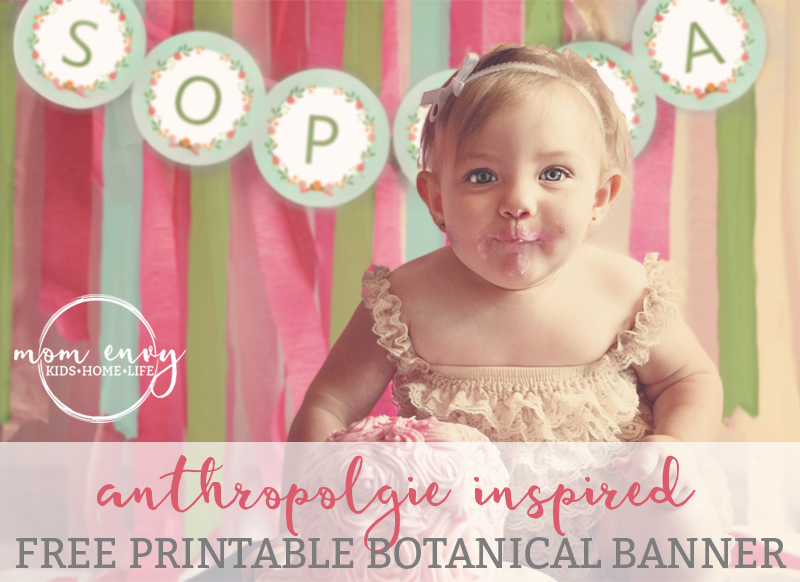 free printable anthropologie inspired banner mom envy