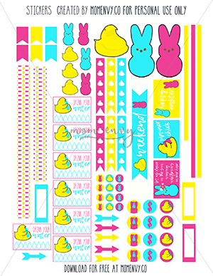 free peeps planner stickers happy planner mom envy