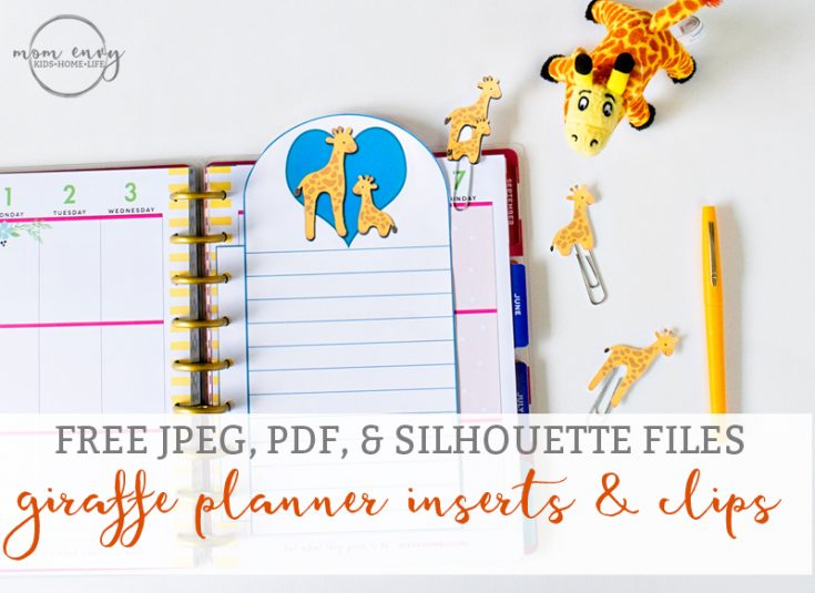 Free Giraffe Planner Inserts and Clips Printables