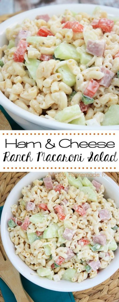 leftover ham recipes mostly homemade mom ham ranch pasta salad