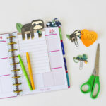 Free printable sloth planner inserts and clips from Mom Envy