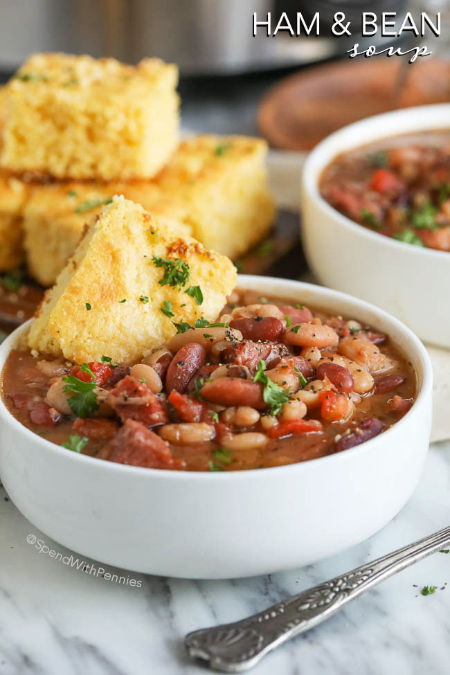 leftover ham recipes spend with pennies ham and bean soup