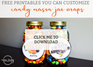 Candy Mason Jar gifts for Mothers Day download
