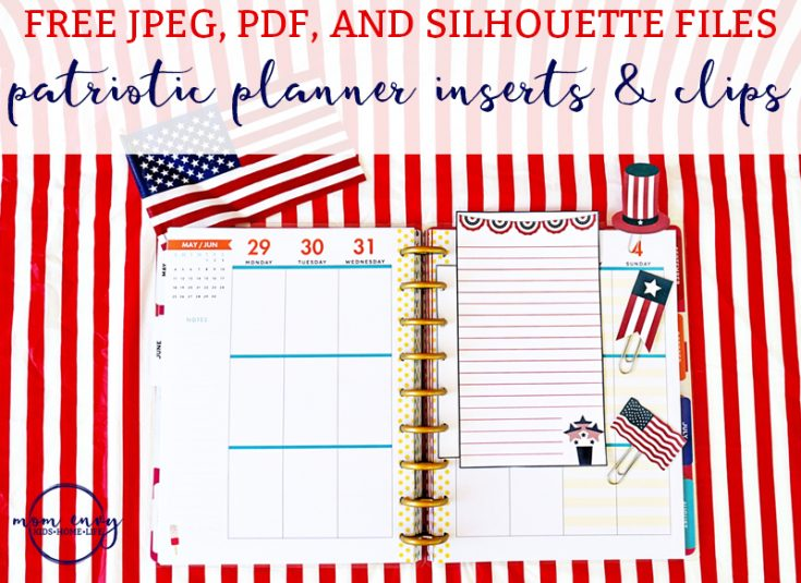 Free Patriotic Planner Inserts and Clips
