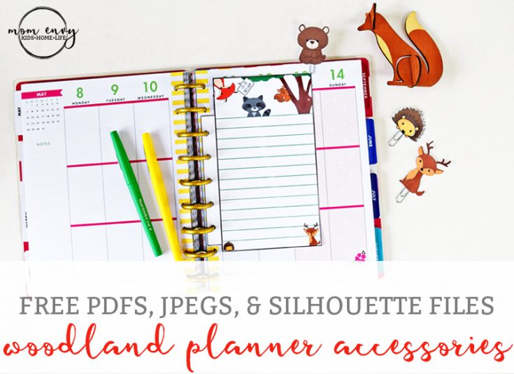 Free Woodland Animal Planner Inserts and Clips