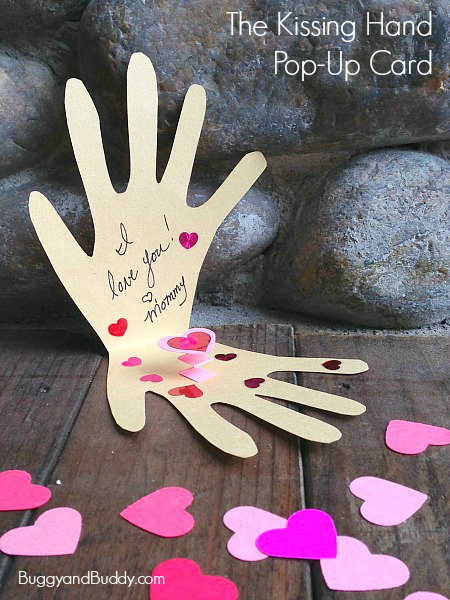 Mother's Day Crafts Round-Up from Mom Envy - kissing-hand from buggy and buddy