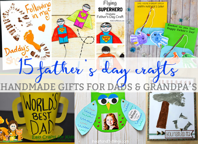 Fathers Day Crafts Mom Envy. Check out this round-up of 15 Father's Day handmade gifts for Dad.