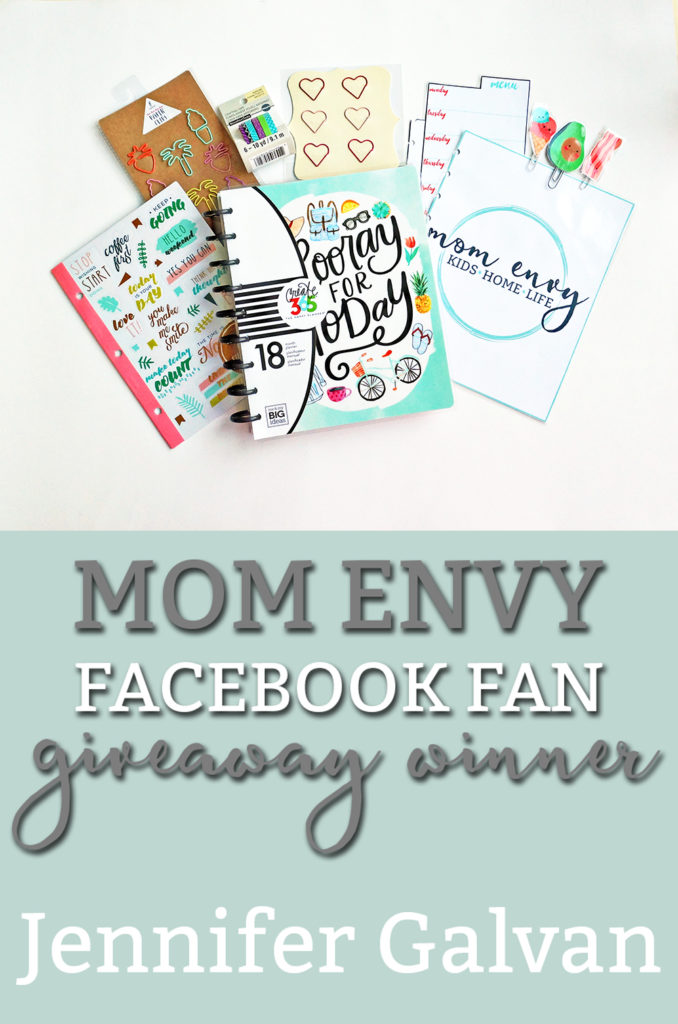 Mom Envy Planner Giveaway Winner