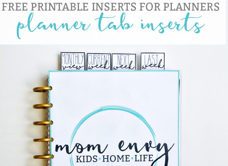 Free Printable Tab Dividers for Planners