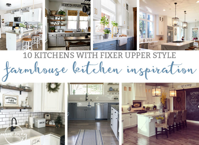 Farmhouse Kitchen Inspiration. 10 Beautiful Farmhouse Kitchens. Fixer Upper kitchens. Kitchens Chip & Joanna would approve of. Fixer Upper style. White farmhouse kitchens. Beautiful kitchens (including kitchen redos).