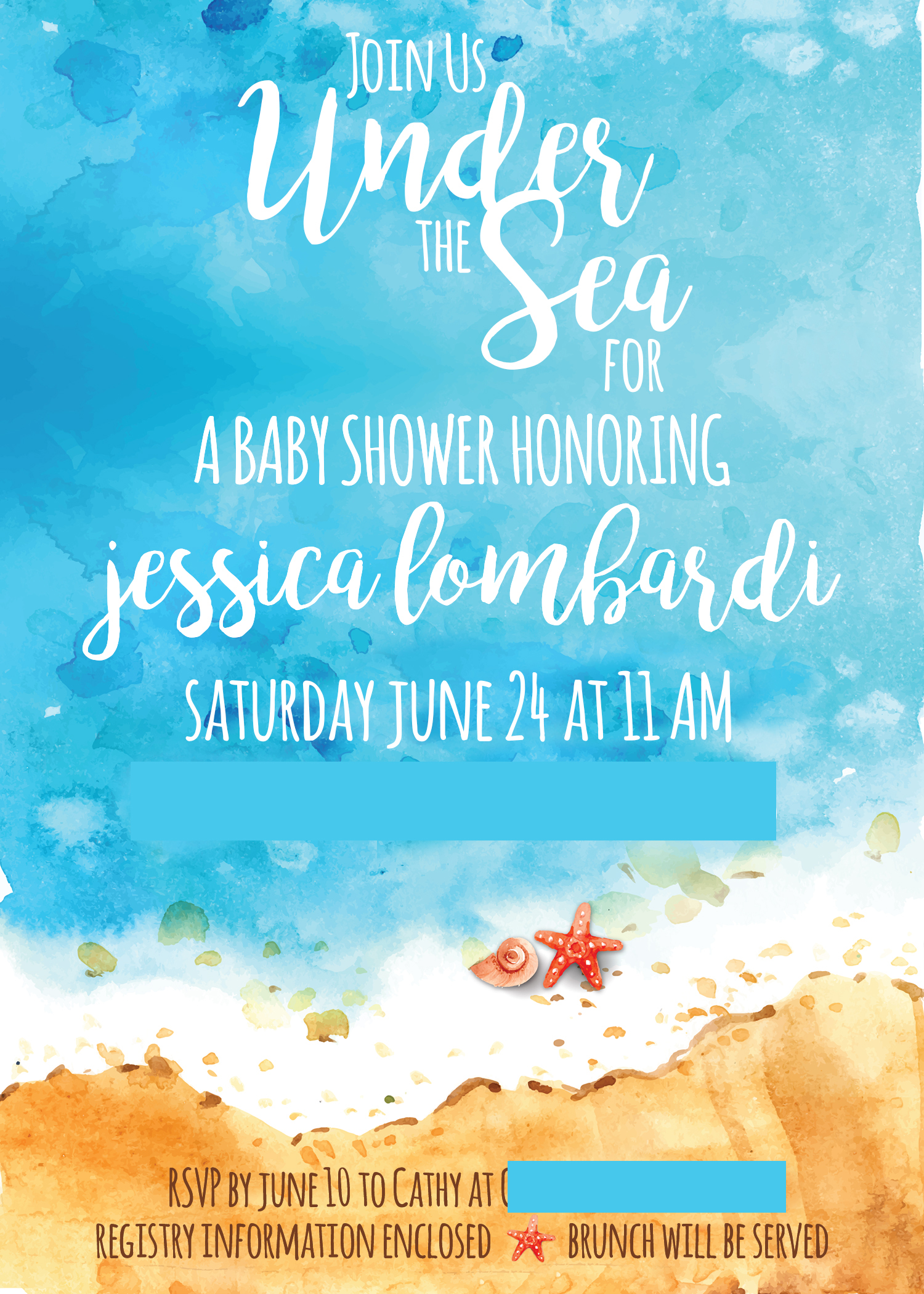 Under The Sea Baby Shower A Beach