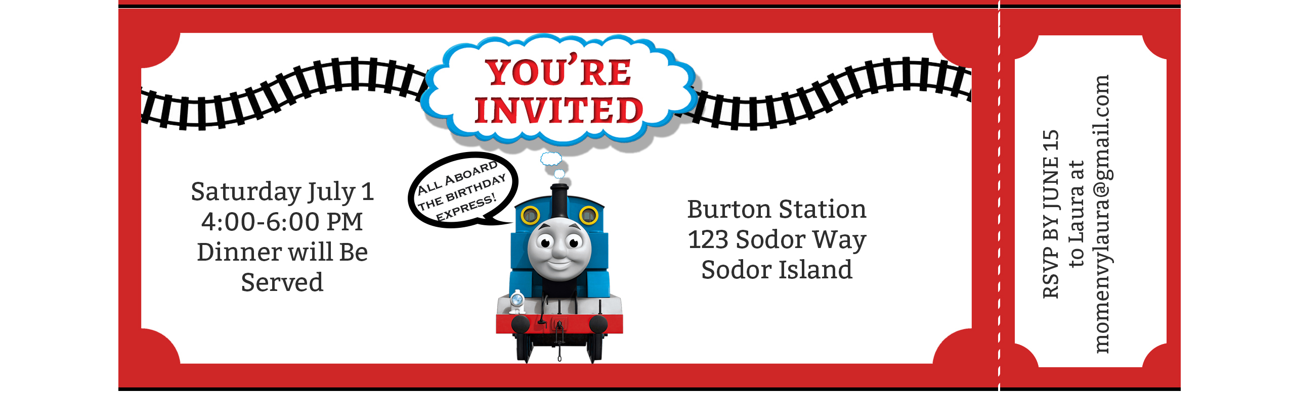 - Free Train Party Printables - Free Thomas The Tank Engine Party Pack
