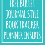 Bullet journal style book tracker from Mom Envy  Free