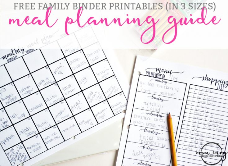 Meal Planning Printables - Free Meal Planning Kit
