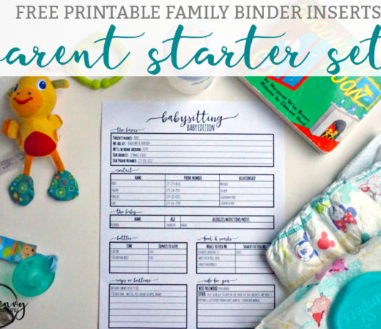 Download the free parent starter kit today. Free daycare forms, babysitter forms, emergency information form, hospital checklist, milestone tracker, and more are available.