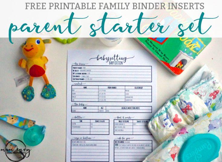 Parent Starter Kit: Babysitter Forms, Daycare Forms, & More