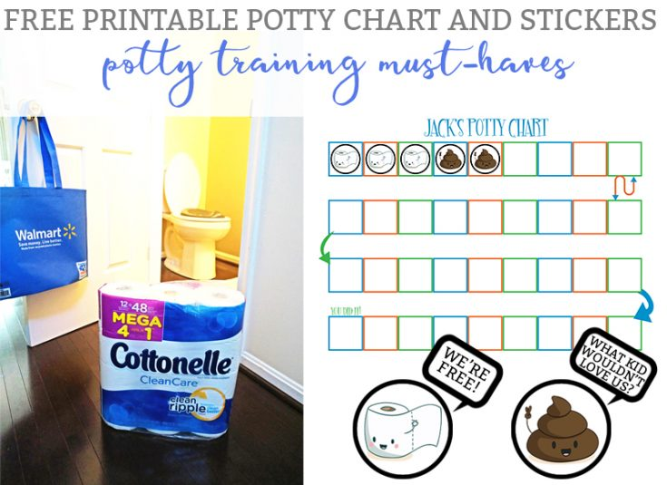 Potty Training Must-Haves with (& a Free Potty Training Rewards Chart & Stickers)