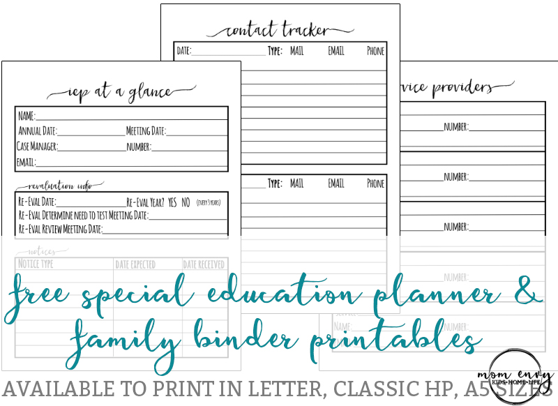 photo regarding Binder Inserts Printable known as IEP Binder - Cost-free One of a kind Education and learning Planner Inserts
