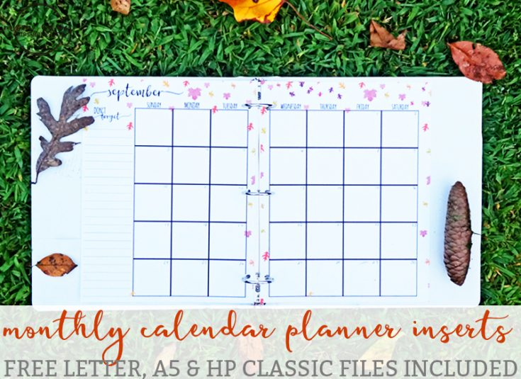 Free Monthly Planner Printables - Different Designs for Each Month