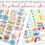 Back to School Planner Stickers – Perfect for Calendars, too!