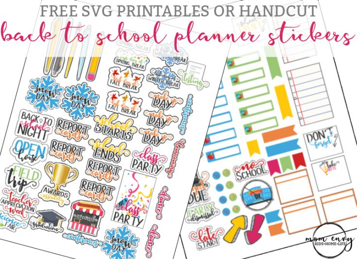 Back to School Planner Stickers - Perfect for Calendars, too!
