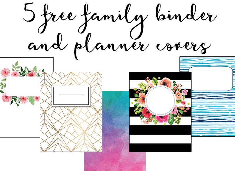 graphic about Free Binder Printables named Spouse and children Binder Handles - Totally free Planner Handles Spouse and children Binder