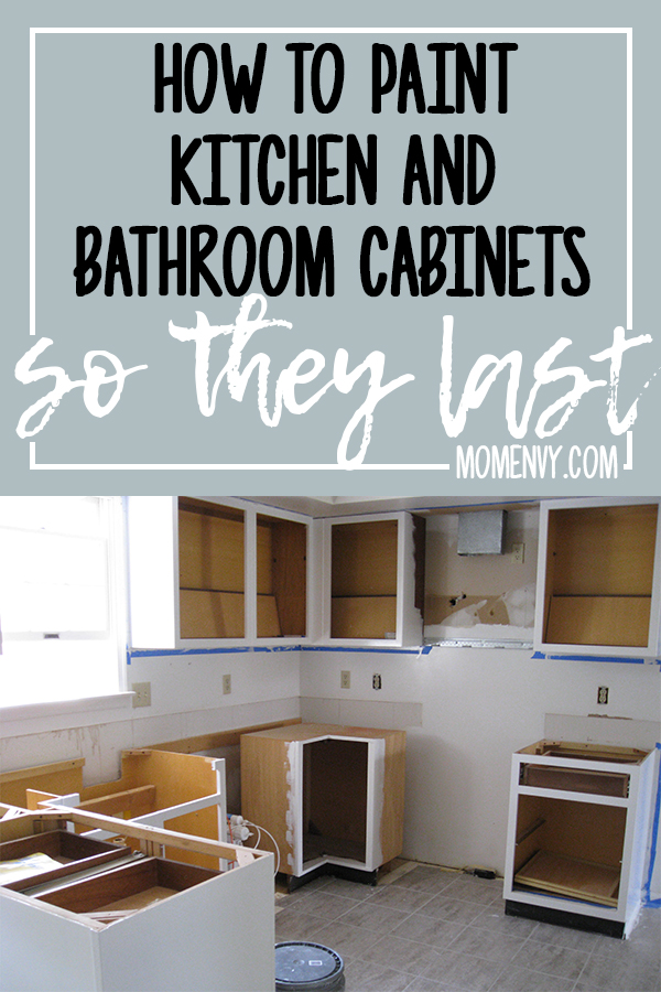 How To Paint Kitchen Cabinets So They Last This Method