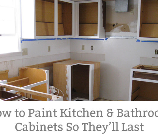 How to Paint Kitchen Cabinets So they Last. I used this method and my cabinets look just as good six years later. If you want a process that will work for years to come, then this method is for you. Learn how to remodel your kitchen and paint your kitchen cabinet with these easy steps.