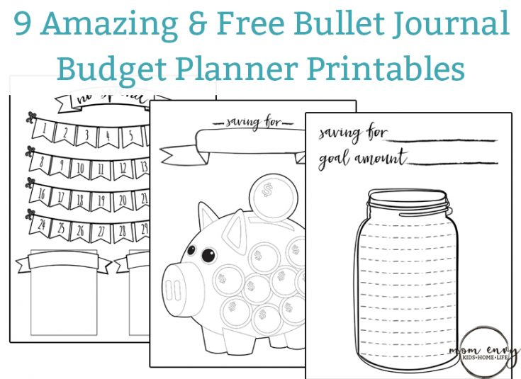 Printable Budget Planner - 9 Budget Printables for Free