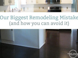 Hardwood vs. Laminate. The biggest renovation mistake we made. Here's more information about hardwood vs. laminate floors so that you don't make the same mistake as us.