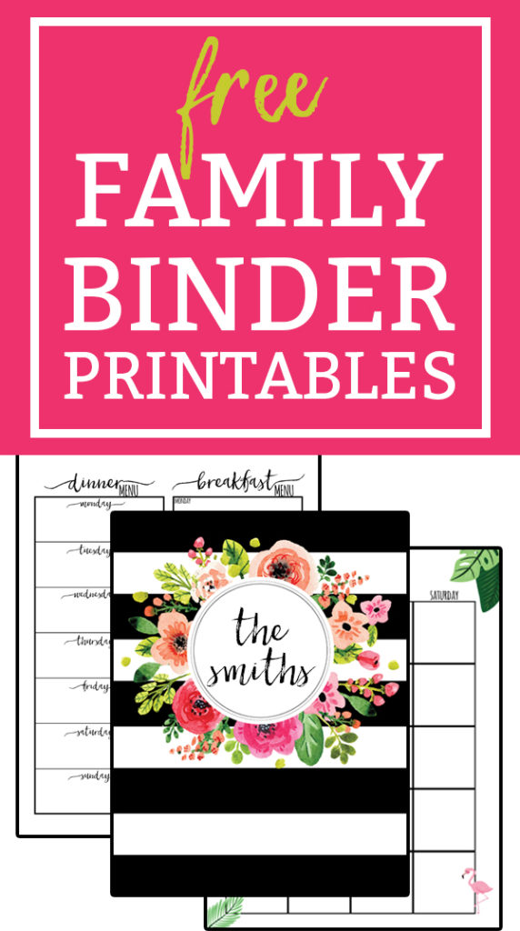 Free Family Binder Printables. Download free family binder printables to help get you get organized. Free planner printables for Moms. Over 30+ free printable pages. Password Keeper Printable, Contacts Printable, & Donations Tracker included. #plannerprintables #freeprintables
