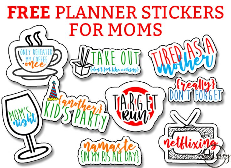 Free Mom Planner Stickers - 33 Different Designs - SVG Included