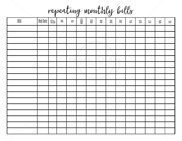 image about Budget Planner Printable known as Printable Price range Planner - 9 Spending budget Printables for Totally free