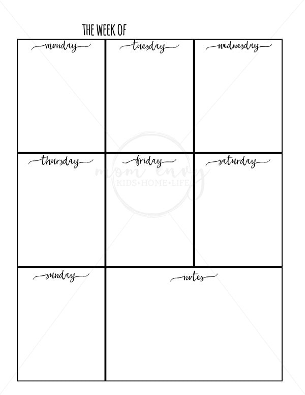 graphic about Weekly Planner Printable Free identified as Weekly Planner Printable and Every day Planner Printable