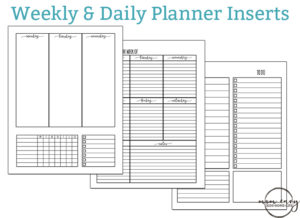 Free Monthly Planner Inserts - Family Binder Printables
