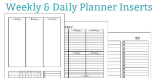 Free weekly planner inserts and free daily planner inserts. Download free Happy Planner inserts, free family binder inserts, and free A5 planner inserts.