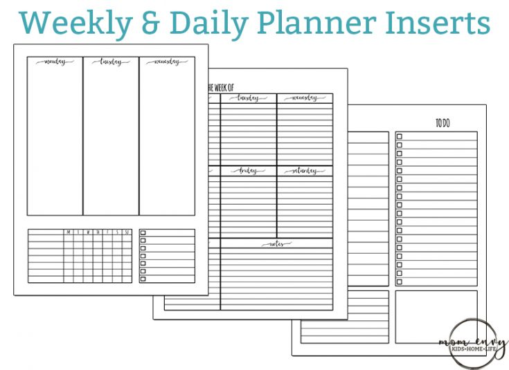 Weekly Planner Printable and Daily Planner Printable
