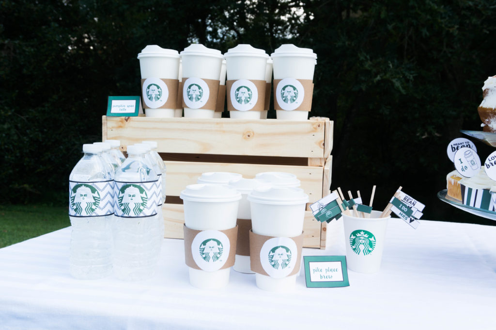 Free Starbucks Party Printables. Download the ultimate set of free party printables for a coffee party. Get what you need for a coffee bar. Perfect for a coffee bridal shower. Starbucks birthday party. Or just a Starbucks party because you love Pumpkin Spice Lattes. Download free party printables. Mom Envy.