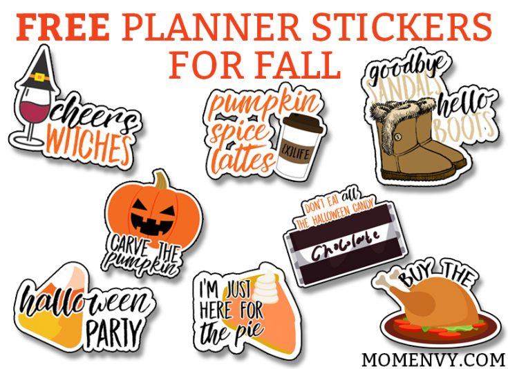 Free Fall Planner Stickers - 38 Different Designs